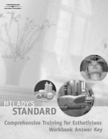 Milady's Standard Comprehensive Training for Esthicians Study Guide Answer Key (Paperback): Milady Publishing Company
