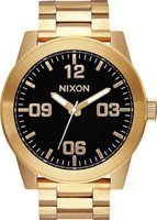 Nixon Men's Corporal SS Analog Watch (Gold & Black):
