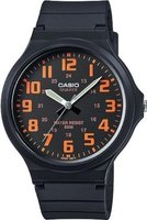 Casio Standard Analogue Wrist Watch (Black and Orange):