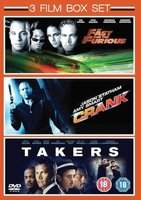 The Fast And The Furious / Crank / Takers (DVD, Boxed set): Vin Diesel, Jason Statham, Paul Walker