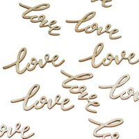 Boho - Wooden Confetti - Love (25 Pieces):