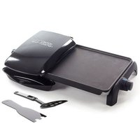 George Foreman Grill And Griddle 10 Portion Entertainer (Black):