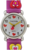 Cool Kids Analogue 3D Hearts Watch (Purple):