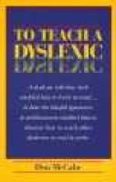 To Teach a Dyslexic (Paperback): Don McCabe