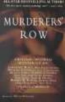 Murderers' Row (Paperback): Otto Penzler