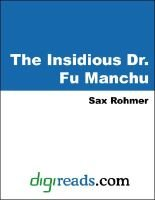 The Insidious Dr. Fu Manchu (Electronic book text): Sax Rohmer