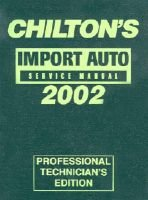 Import Car Service Manual (Hardcover, 2002): Chilton