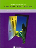 Introduction to Law and Legal Skills (Paperback): Peggy Maisel, Lesley Greenbaum