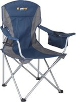 Oztrail Sovereign Cooler Arm Chair (130kg) (Blue/Grey):