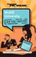 McGill University (Paperback): Robin Erskine-levinson