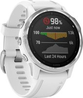 Garmin Fenix 6S Smartwatch (Silver with White Band):