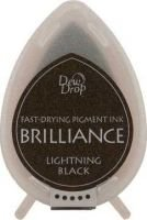 Tsukineko Brilliance Dew Drop Ink Pad - Lightning Black: