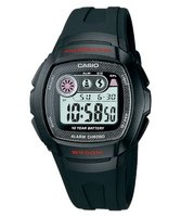 Casio W-210-1CV Watch with 10-Year Battery:
