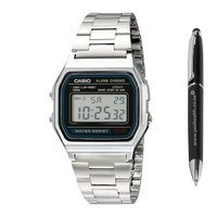 Casio Chrono Quartz Digital Alarm Watch (Silver):