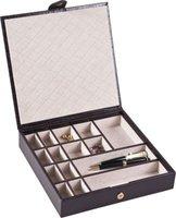 CaraMia Tiffany Unisex Valet - Espresso Brown (15-Division):