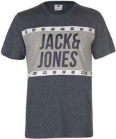 Jack and Jones Mens Core Passion T-Shirt (Sky and Light Grey):