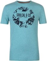 SoulCal Mens Fashion T-Shirt (Tile Snow):