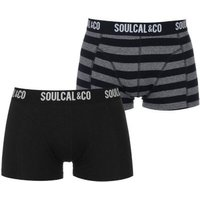 SoulCal Mens Trunks (Anthra and Stripe)(Pack of 2):