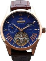 Matt Arend Chronometre Jugendstil Open Heart Watch (Brown):
