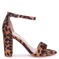 Linzi Ladies NELLY Single Sole Block Heel - Brown Leopard:
