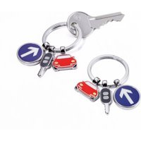 Troika Keyring with 3 Charms - On The Road: