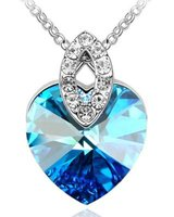 Btime Crystal Heart Pendant Marquise Bale with Swarovski Crystals: