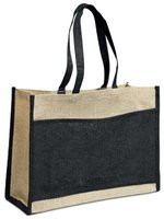 Two Tone Jute Shopper: