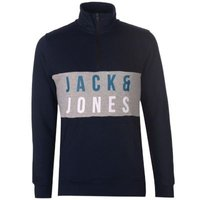 Jack & Jones Mens quarter Zip Staple Fleece Top (Sky Captain) [Parallel Import]: