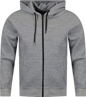 FM London Mens Slim Fit Hoodie (Grey):