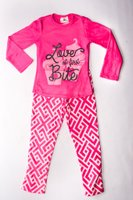 Geo Printed Pajama Set ( Hot Pink):