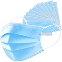 3Ply Disposable Face Mask with Ear Loops (Pack of 50):