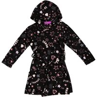 Pre-Girls Fluffy Gowns (Multi Print Black):