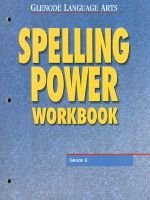 Glencoe Language Arts Spelling Power Workbook Grade 6 (Paperback, 2nd Revised edition): McGraw-Hill