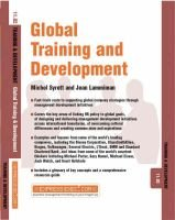 Global Training and Development - Training and Development (Paperback): Michel Syrett, Jean Lammiman