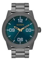 Nixon Gents Corporal SS Analogue Watch (Gunmetal & Spruce):