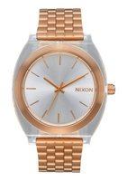 Nixon Unisex Time Teller Acetate Analogue Watch (Rose Gold & Clear):