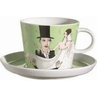 Arzberg Bridal Chorus Breakfast Cup and Saucer (Multicolour):