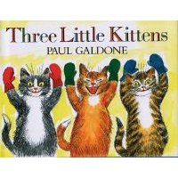 Three Little Kittens (Large print, Hardcover, Large type / large print edition): Paul Galdone