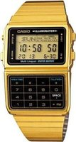 Casio Digital Calculator Watch (Gold):