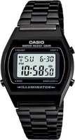 Casio Digital Stainless Steel Wrist Watch (Black):