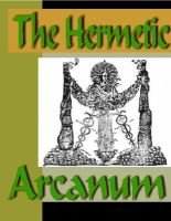 The Hermetic Arcanum (Electronic book text): Unknown