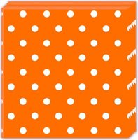 Orange Dots 3-Ply Paper Napkins (20 Pack):