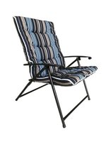 Seagull Padded Folding Chair (Striped Blue):