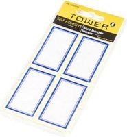 Tower Blue Border Labels (Pack of 48):