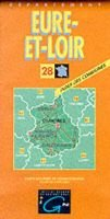 Eure et Loire (English, French, German, Sheet map, folded):