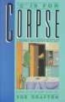 """C"" is for corpse - A Kinsey Millhone mystery: Sue Grafton"