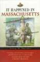 It Happened in Massachusetts (Paperback): Larry Pletcher