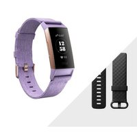 Fitbit Charge 3 Fitness Activity Tracker with Heart Rate Monitor - Special Edition (Lavender Woven and Rose Gold):