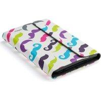"""Kensington Universal Mead Folio Case for 10"""" Tablets (Colorful Moustache):"""
