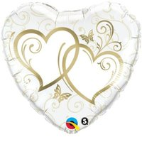 Heart Entwined Hearts Gold Foil Balloon (46 cm):